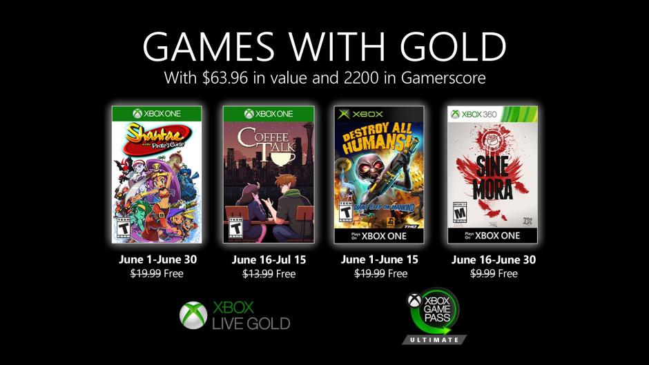 Xbox Gold Junio 2020