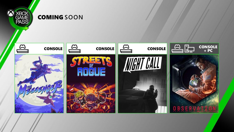 Xbox Game Pass Nueva oleada junio 2020