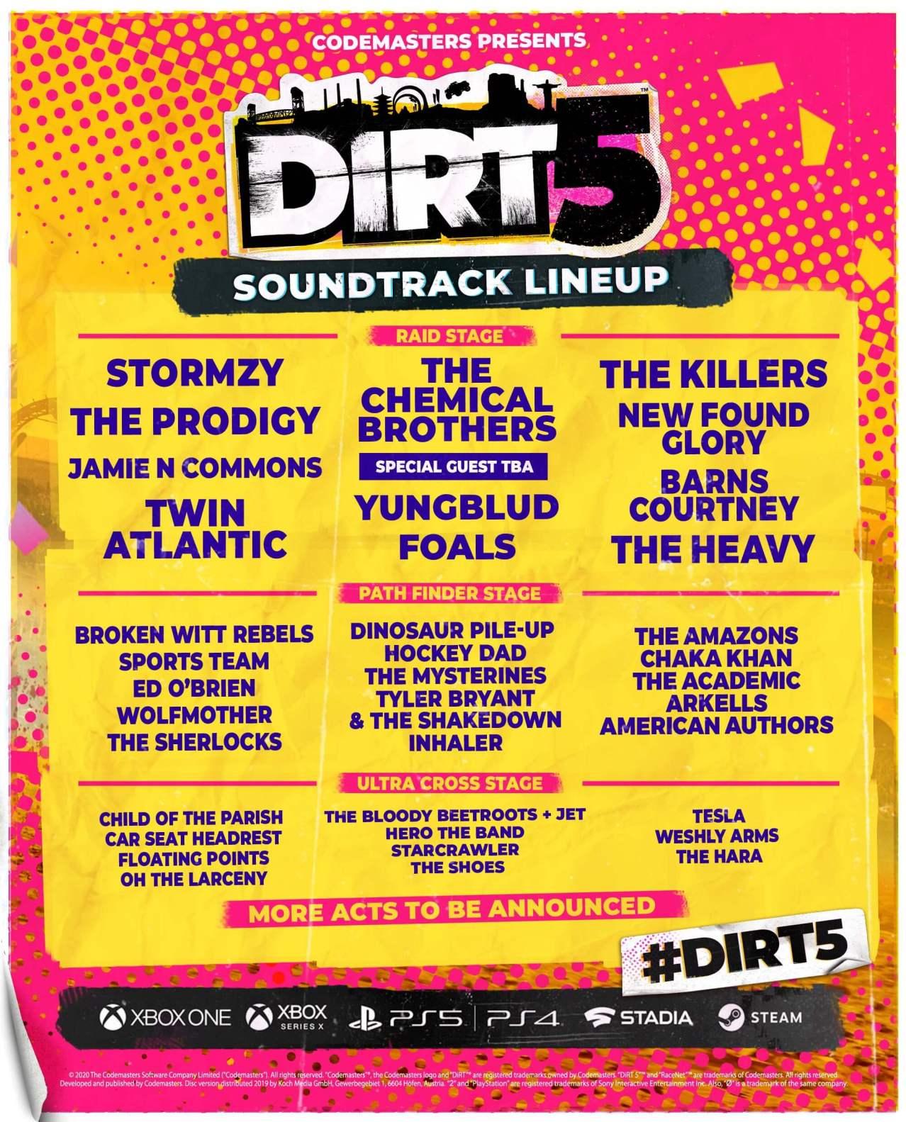 banda sonora de DiRT 5