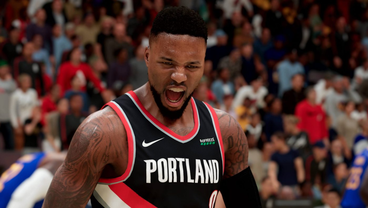 NBA 2K21 Next Gen Damian Lillard Yell scaled