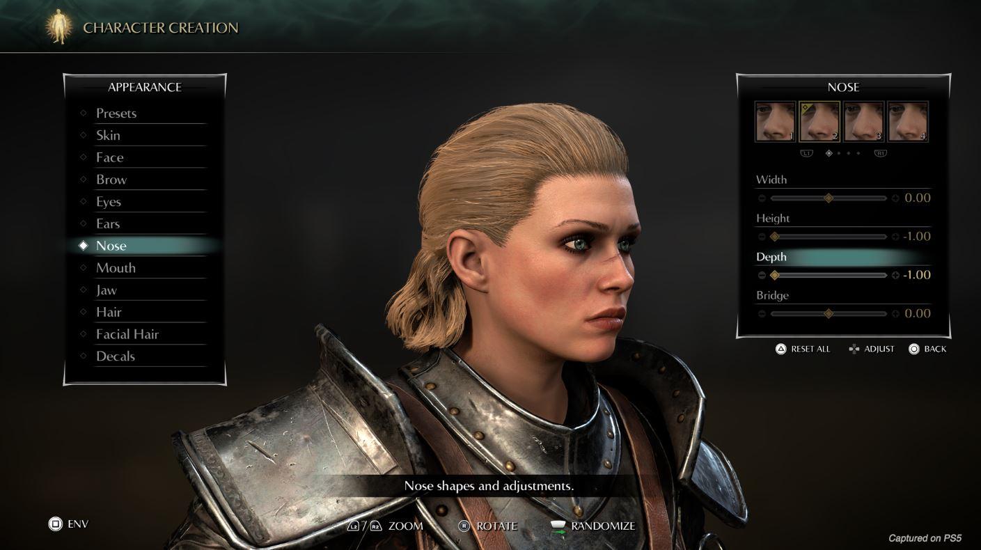 Demons Souls Remake Creador de personajes 1