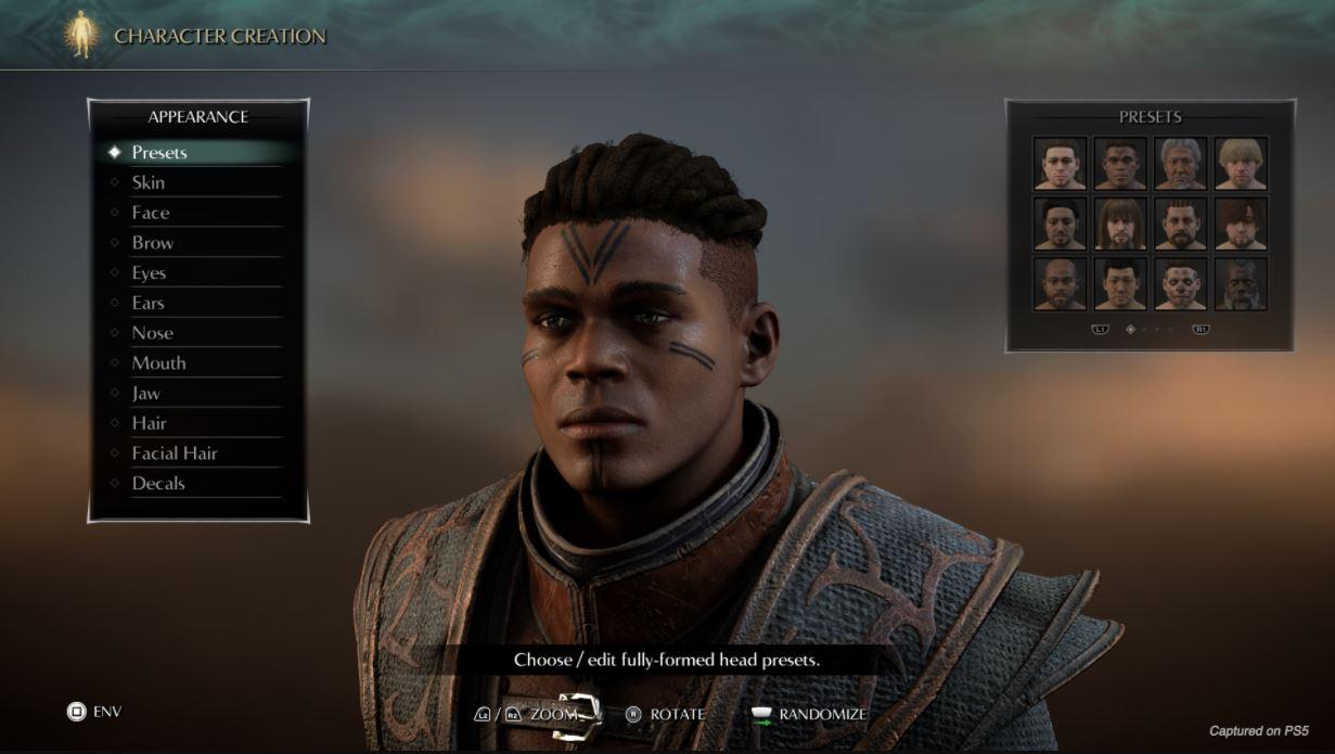 Demons Souls Remake Creador de personajes 2