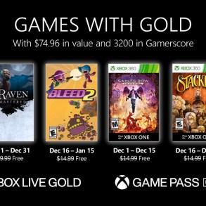 Xbox Gold de diciembre 2020