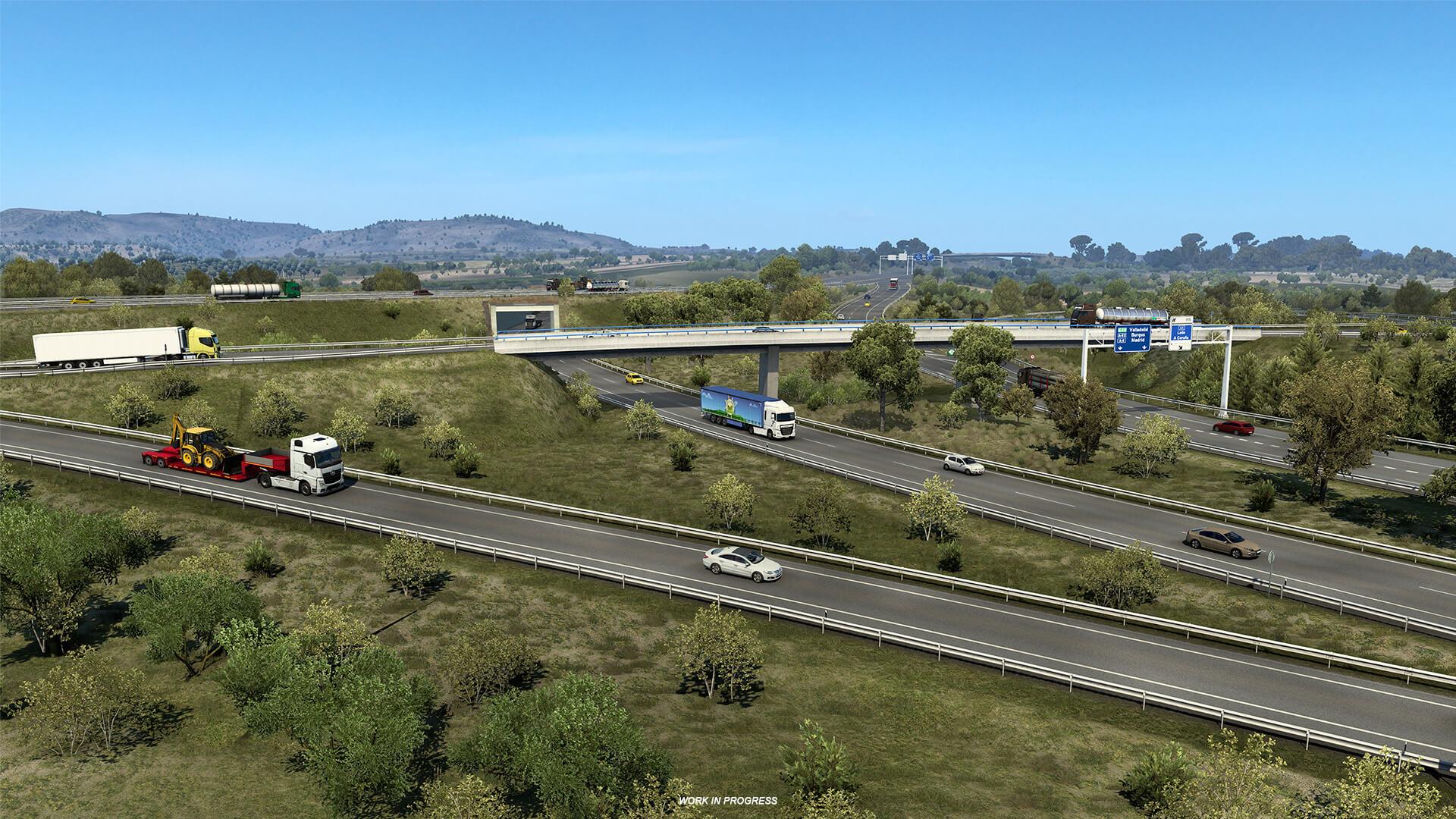 Euro Truck Simulator 2 Iberia Rocas y vegetacion 12