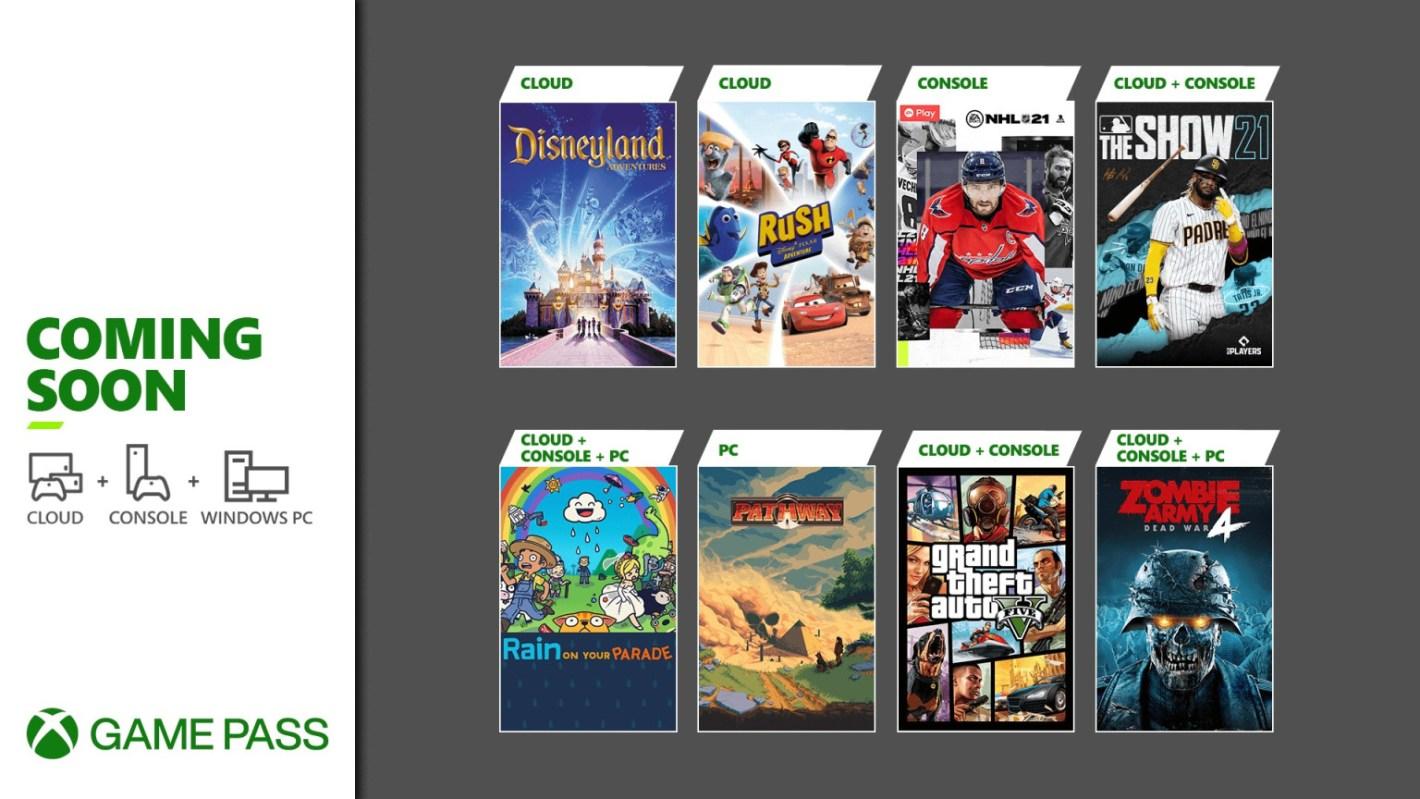 Xbox Game Pass de abril 2021