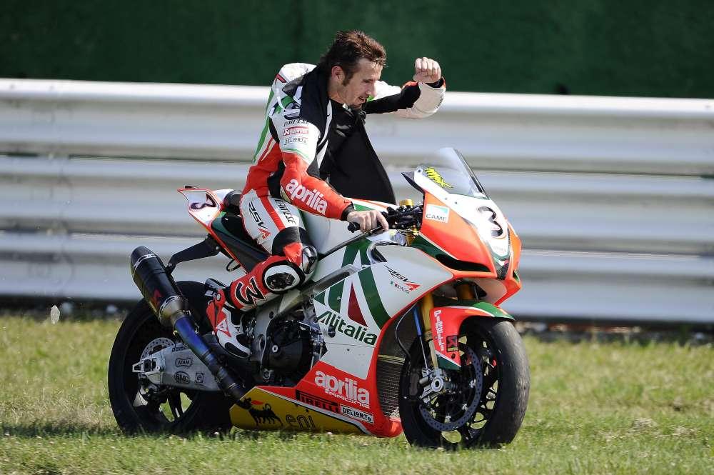 Max Baggi en el Gran Premio de San Marino