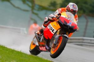 Casey Stoner durante el Gran Premio de Alemania de MotoGp 2012