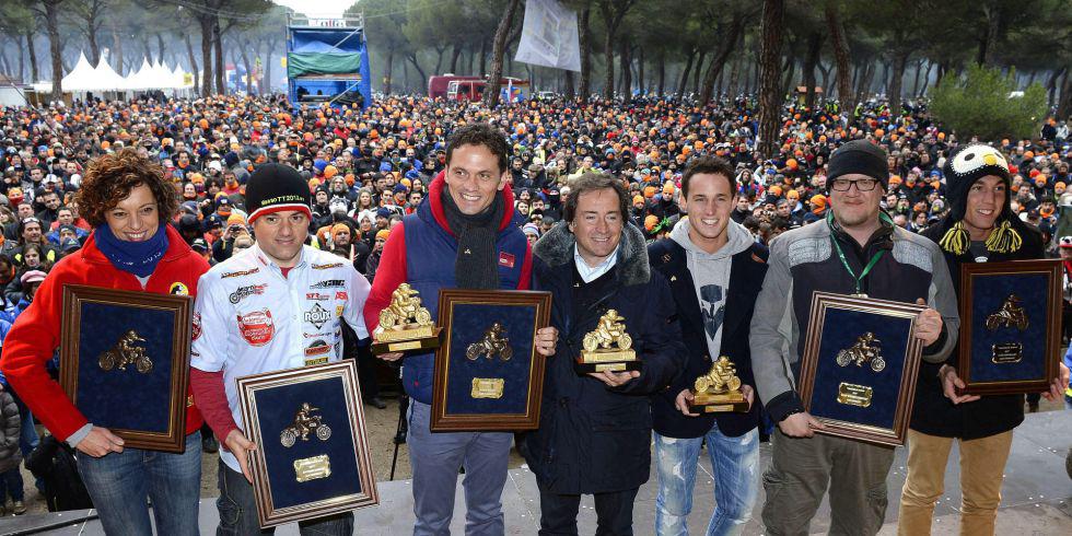 Antonio Maeso con los demas premiados en Pingüinos 2013