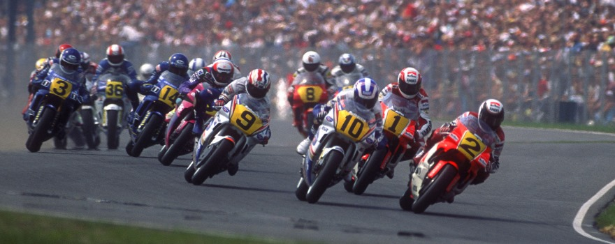Doohan, Gardner, Rainey and Lawson, Dutch GP 1990