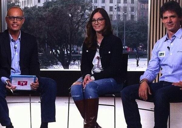 Nadia Tronchoni, junto a Ernest Riveras y Álex Crivillé