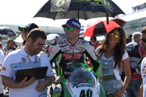 Román Ramos en la parrilla de Jerez