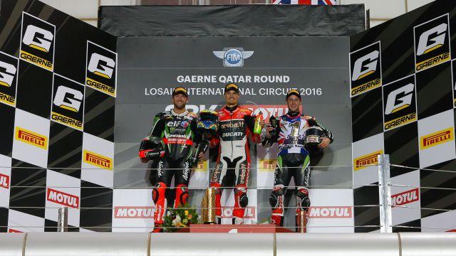 WorldSBK Qatar Podium Carrera 2