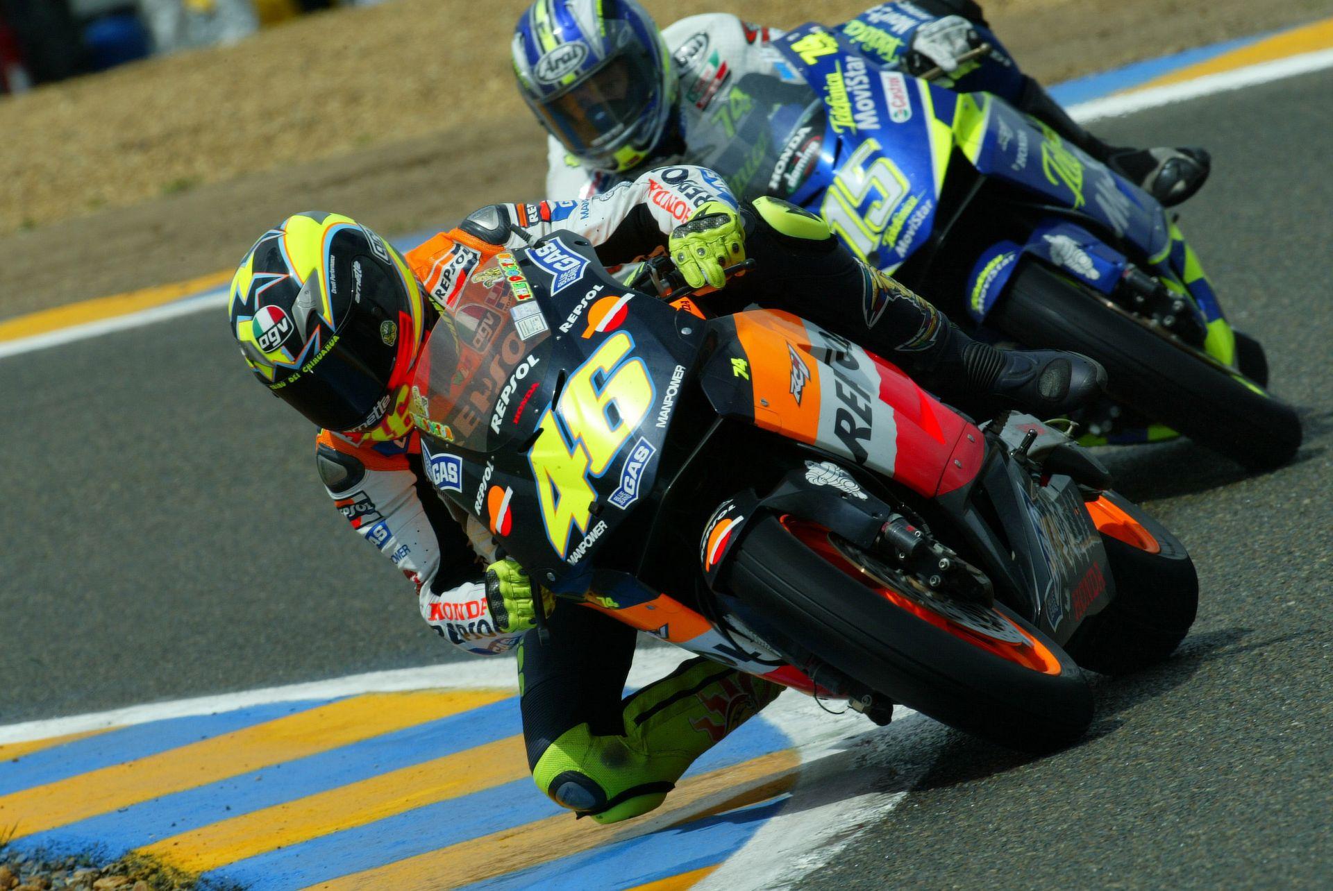 Valentino Rossi y Sete Gibernau