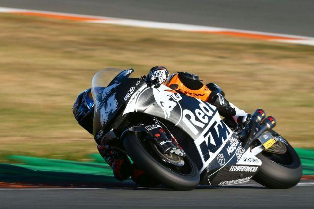 Miguel Oliveira durante la segunda jornada de test de Moto2 en Valencia