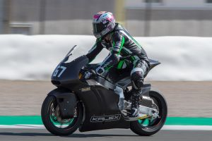 Jesko Raffin con la Kalex Triumph Moto2 en Valencia