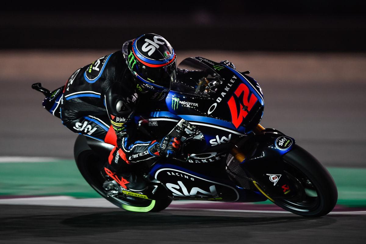 Francesco Bagnaia durante el Gran Premio de Qatar de Moto2