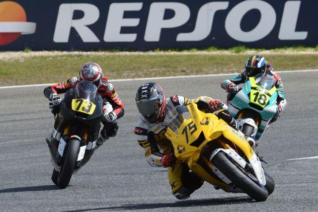 Ivo Lopes durante la carrera de Moto2 en Estoril
