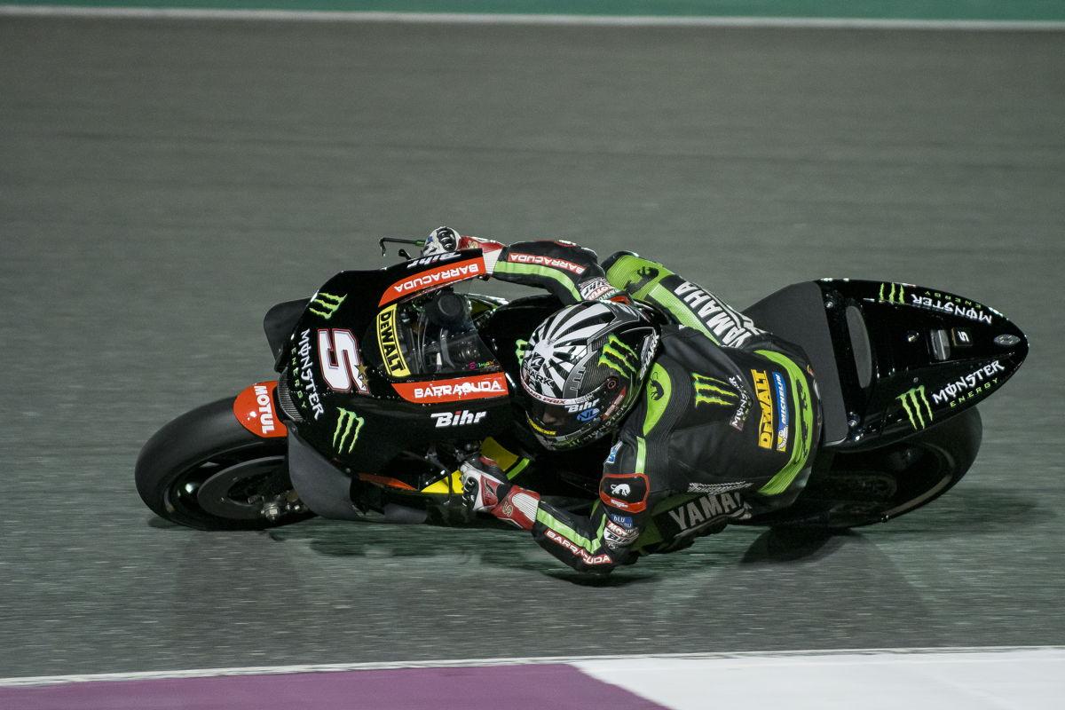 Johann Zarco durante los test de MotoGp en Qatar
