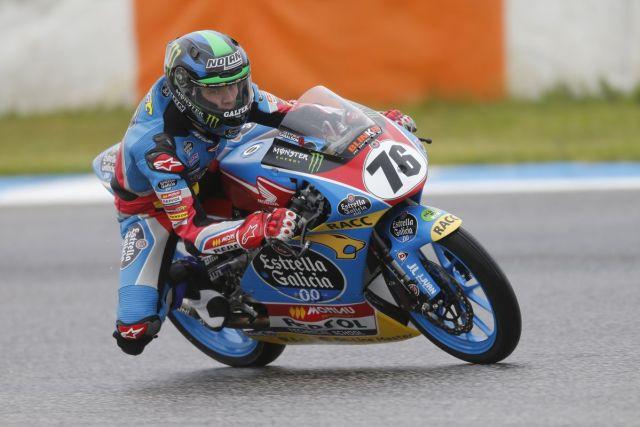 Julian Giral durante la carrera de la ETC en Estoril