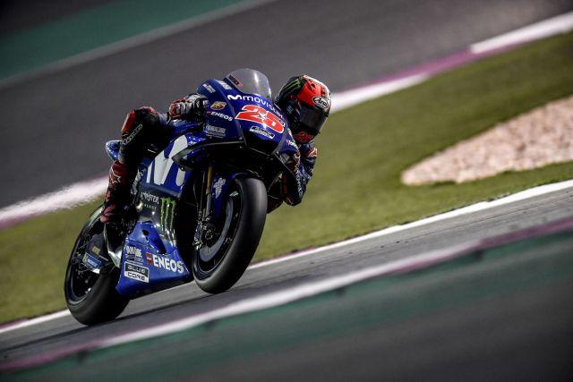 Maverick Viñales durante la primera jornada de test de MotoGp en Qatar