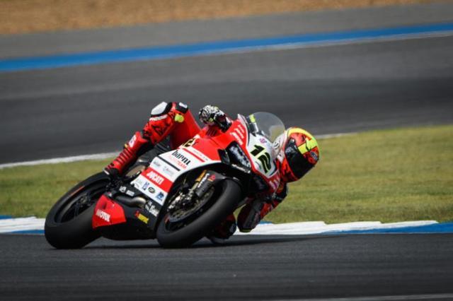 Xavi Forés, segundo clasificado en la carrera 1 de Superbikes en Tailandia