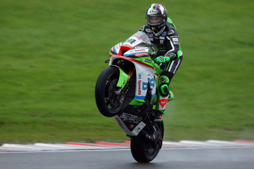 Leon Haslam en Brands Hatch