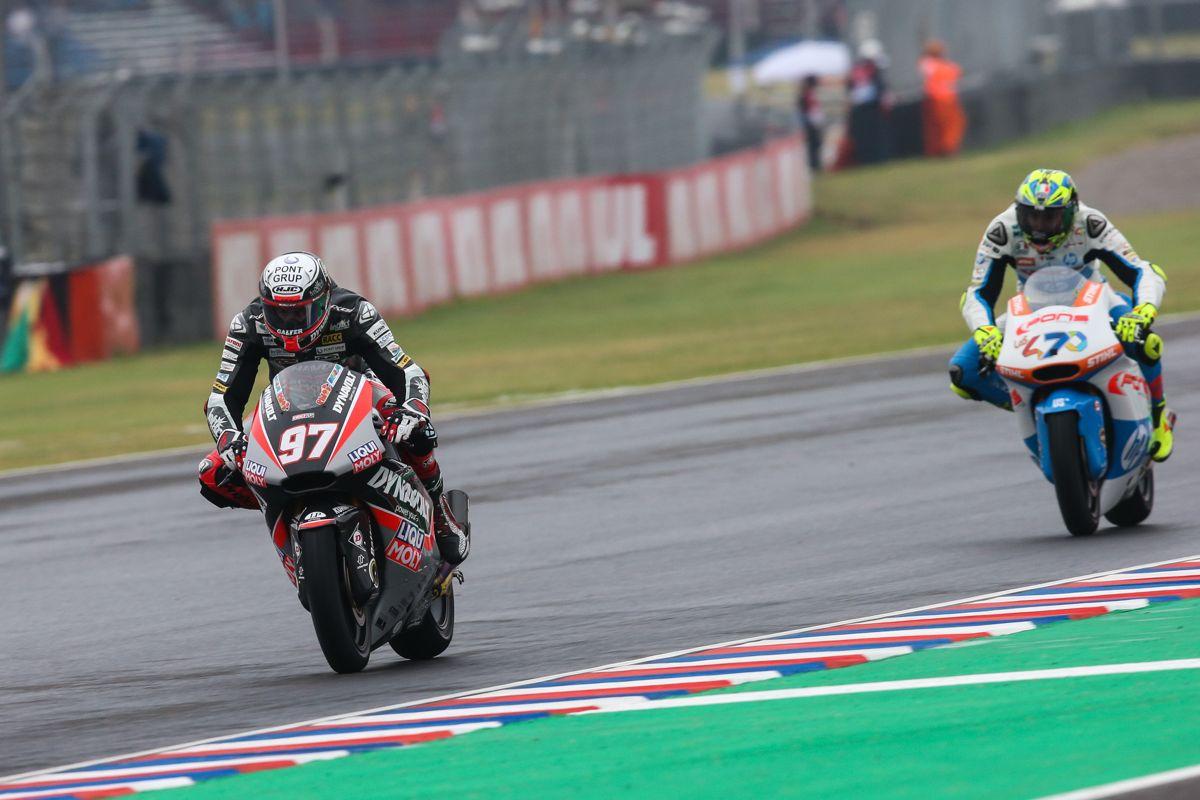 Xavi Vierge durante los entrenamientos oficiales del Gran Premio de Argentina de Moto2