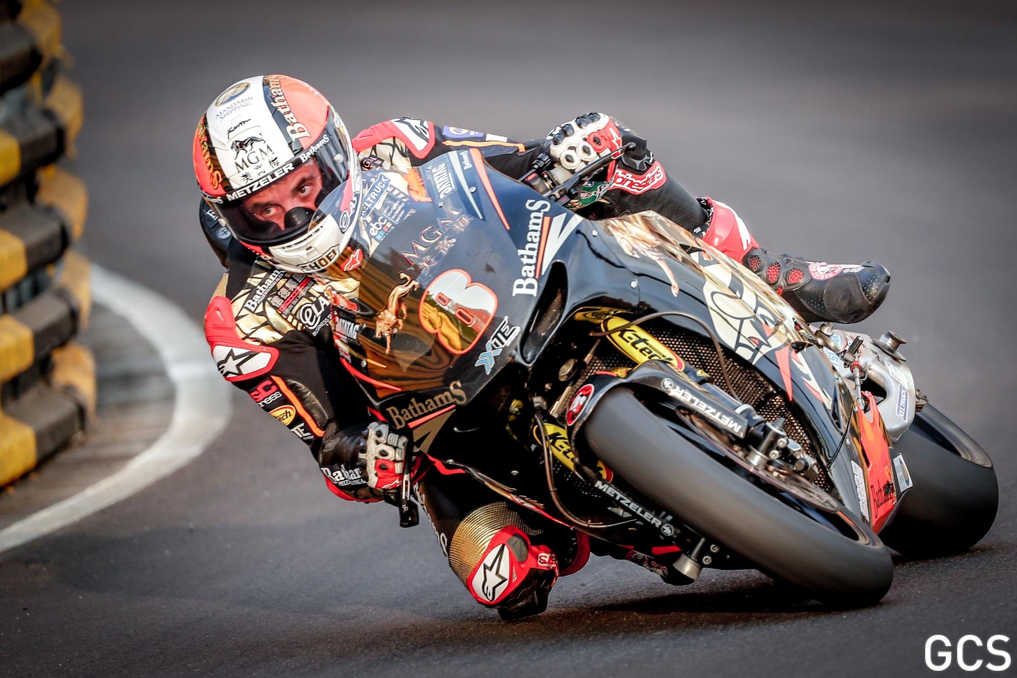 Michael Rutter durante el Gran Premio de Macao