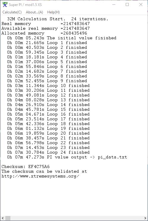 SUPERPI 32MB