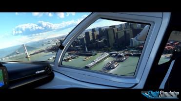 Microsoft Flight Simulator Pier Screenshot with logo