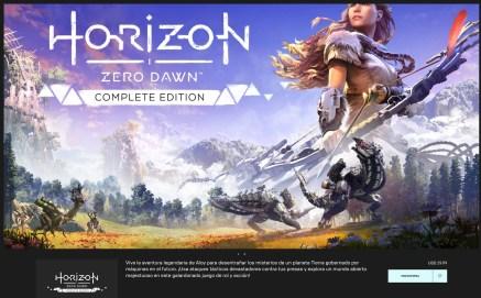 Nuevo precio de Horizon en Epic Games Store en Argentina.