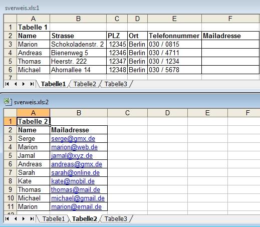 Excel Arbeitsblatt Ausschneiden : Excel beispiel für sverweis mit tabellen pc notfallhilfe