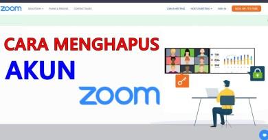 Cara Menutup Akun Zoom