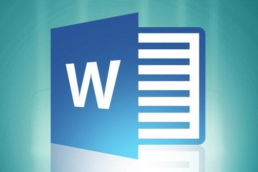 Blue Microsoft Word W Shaped Icon Logo