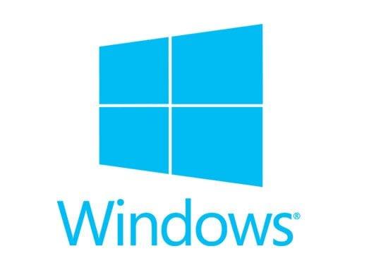 Blue, stylized Microsoft Windows Name and Corporate Logo