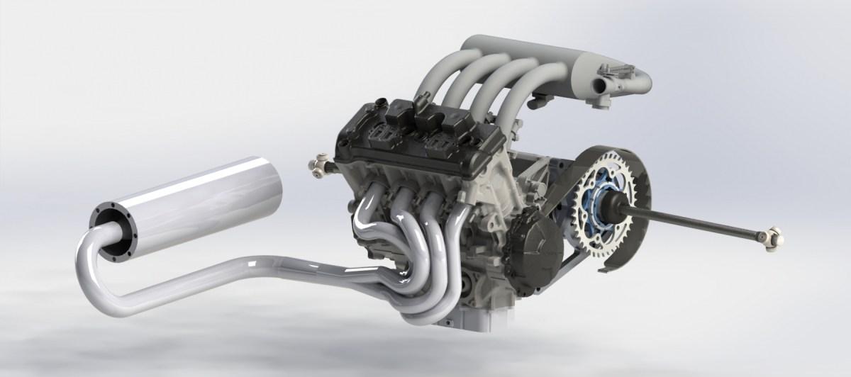 Bolton WorksSolid Works Assembly 2009 Honda CBR600RR Engine (14)