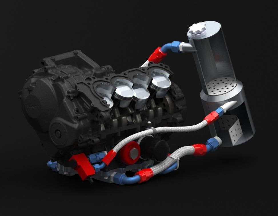 Bolton WorksSolid Works Assembly 2009 Honda CBR600RR Engine (16)