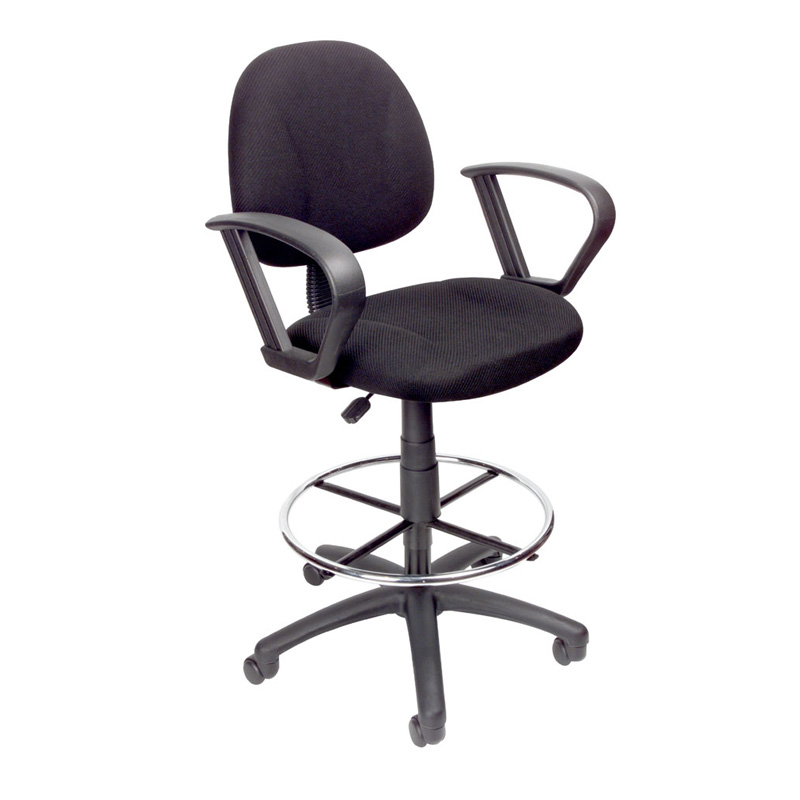 drafting chairs with arms used restaurant for sale boss stool loop black pcrichard com b1617 bk