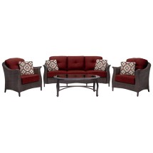 Hanover Gramercy 4-piece Patio Furniture Seating Set With