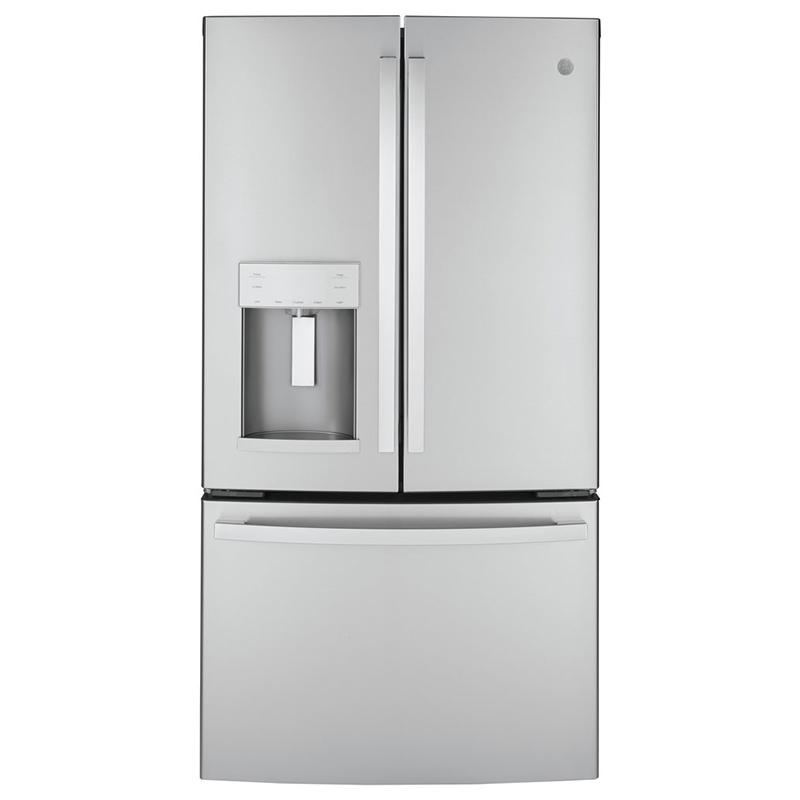 ge 36 22 1 cu ft french door refrigerator fingerprint resistant stainless steel