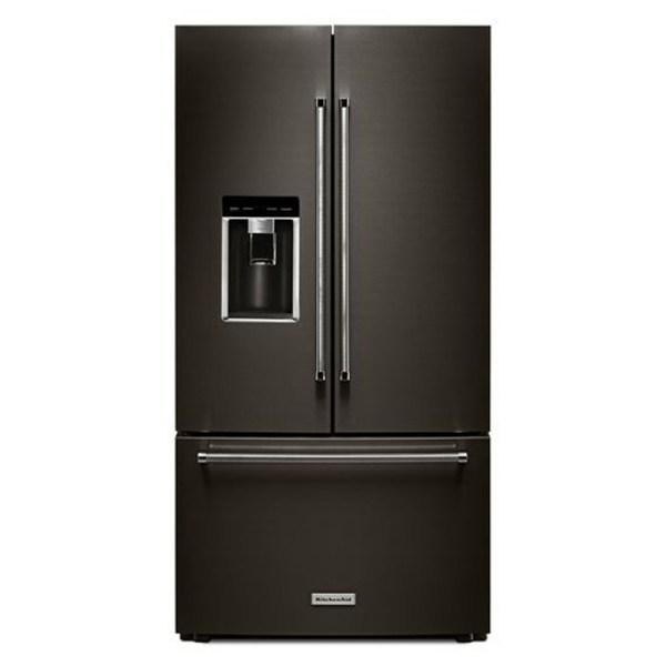 Kitchenaid 23.8 Cu. Ft. French Door Refrigerator - Black Stainless Krfc704fbs