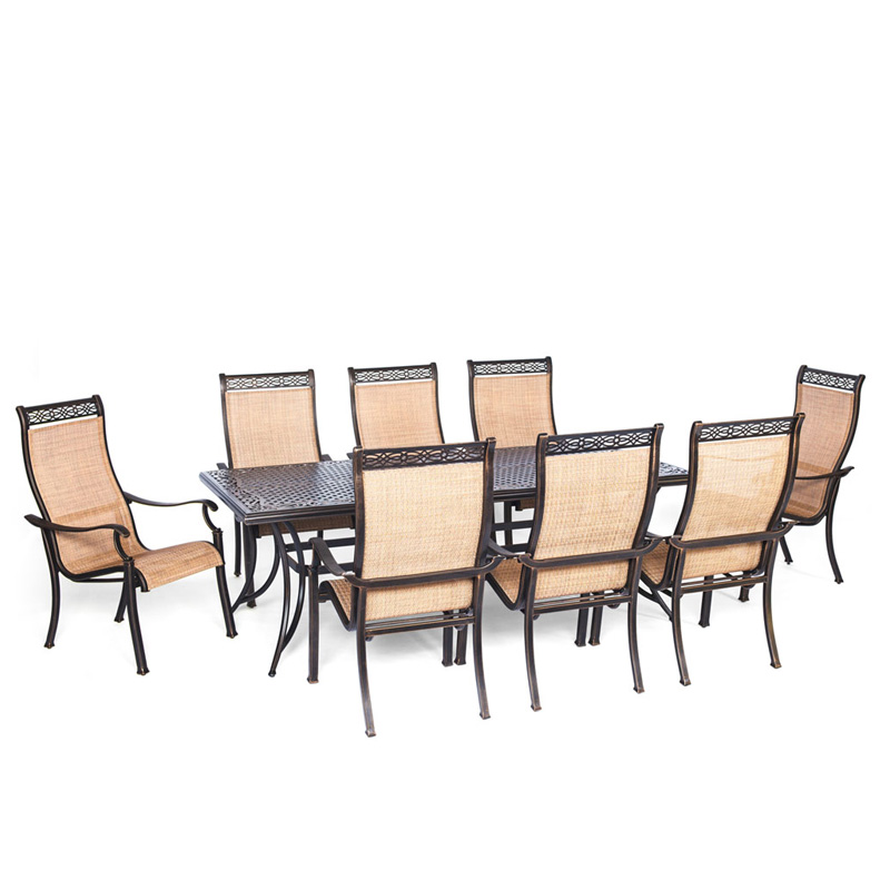 sling back chair desk ikea hanover manor 9 piece dining set with 8 chairs pcrichard com mandn9pc