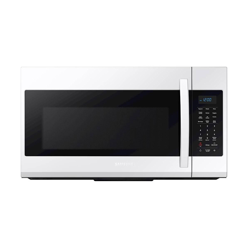 samsung 30 1 9 cu ft over the range microwave with 10 power levels 400 cfm fan white