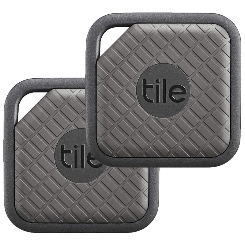 tile pro sport smart tag 2 pack key phone item tracker slate graphite