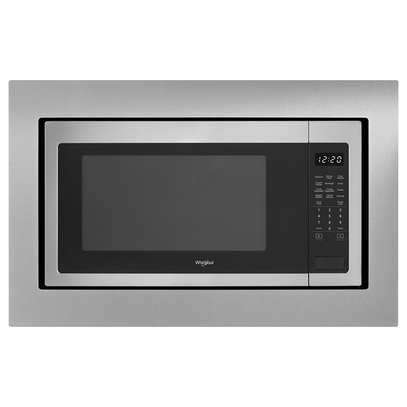 whirlpool 24 2 2 cu ft countertop microwave with 10 power levels sensor cooking control stainless steel