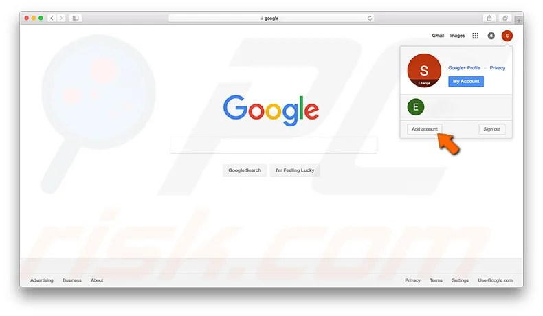 How to set the default Google account for multiple account