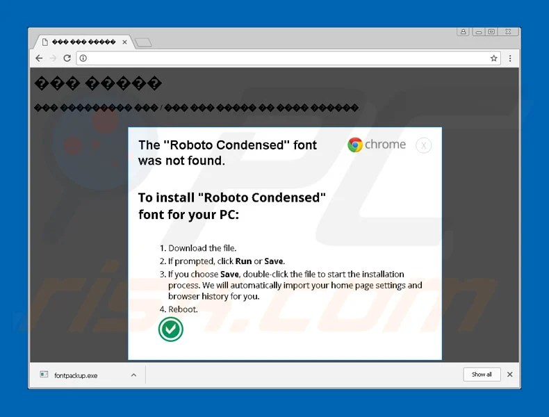 Download How to remove The Roboto Condensed Font Was Not Found Scam ...