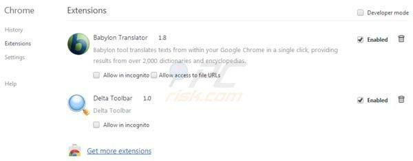 Comment se débarrasser de Barre d'outils Delta-Search.com