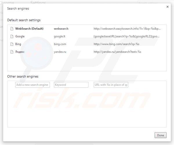 Comment se débarrasser de Redirection vers Websearch