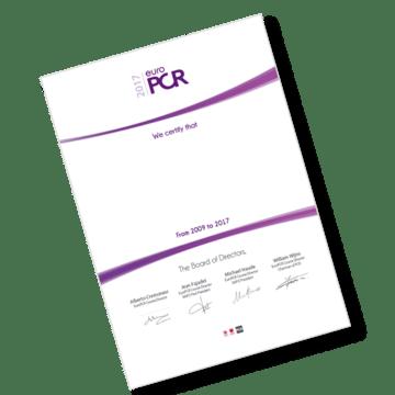 EuroPCR 2018: Certificates